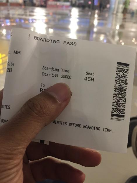 Menyiapkan boarding pass