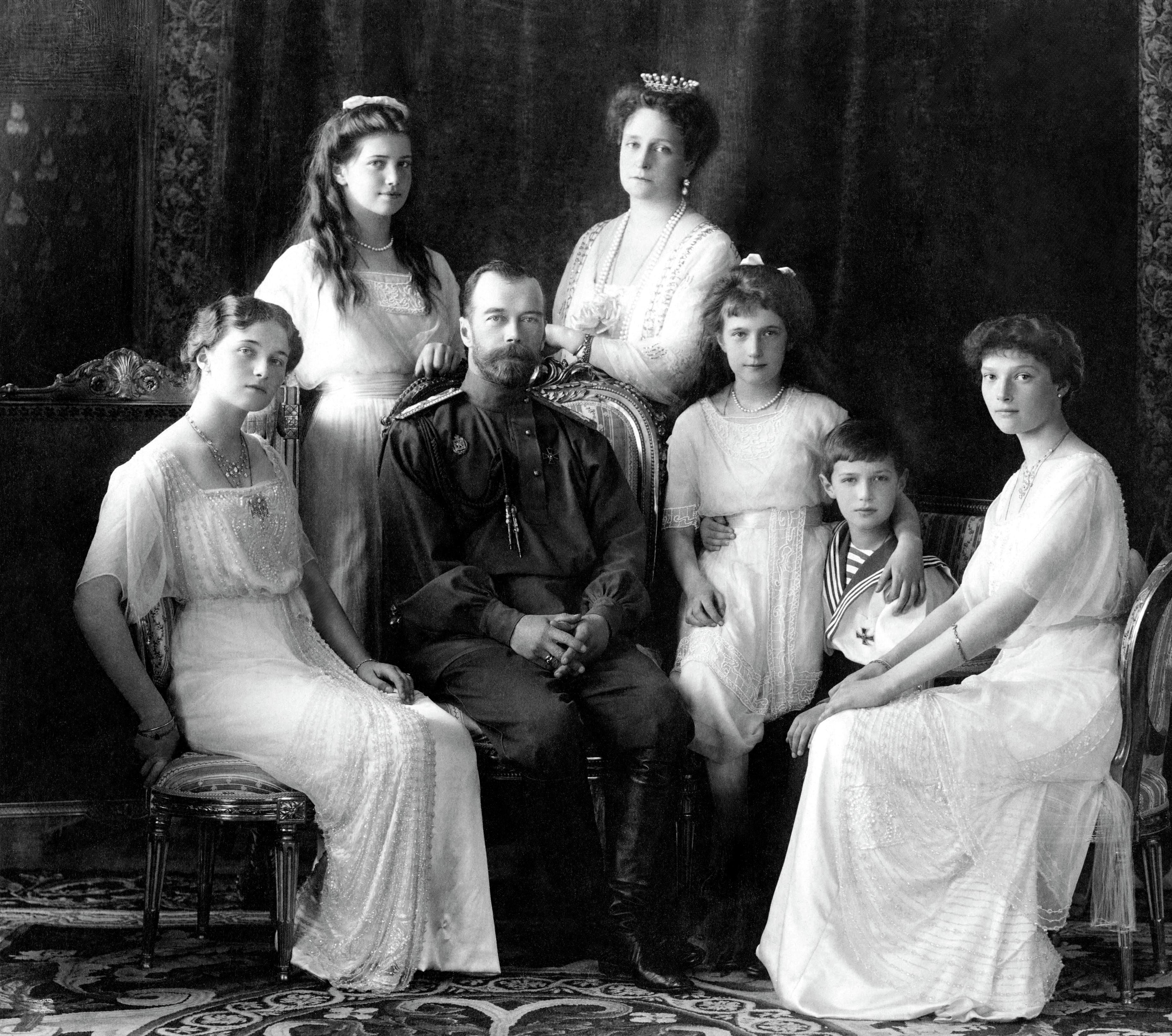 Olga Maria Nicholas Alexandra Anastasia Alexei tatiana